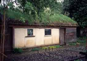 Neil also helped realise this strawbale cabin complete with a living roof