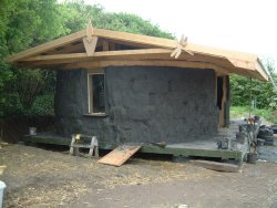 Strawbale classroom at the Carymoor Centre, Somerset